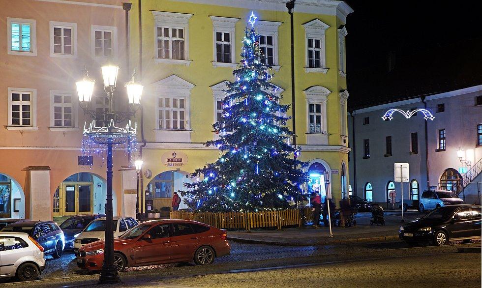 Vánoční strom v Kroměříži.