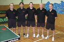 Účastník třetí ligy, zleva: Sekanina, Klepl, M. Matela, Z. Matela a Klůj.