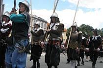 Na Pionýrské louce v Kroměříži se v sobotu 11. července 2009 konala rekonstrukce bitvy o dobytí Kroměříže