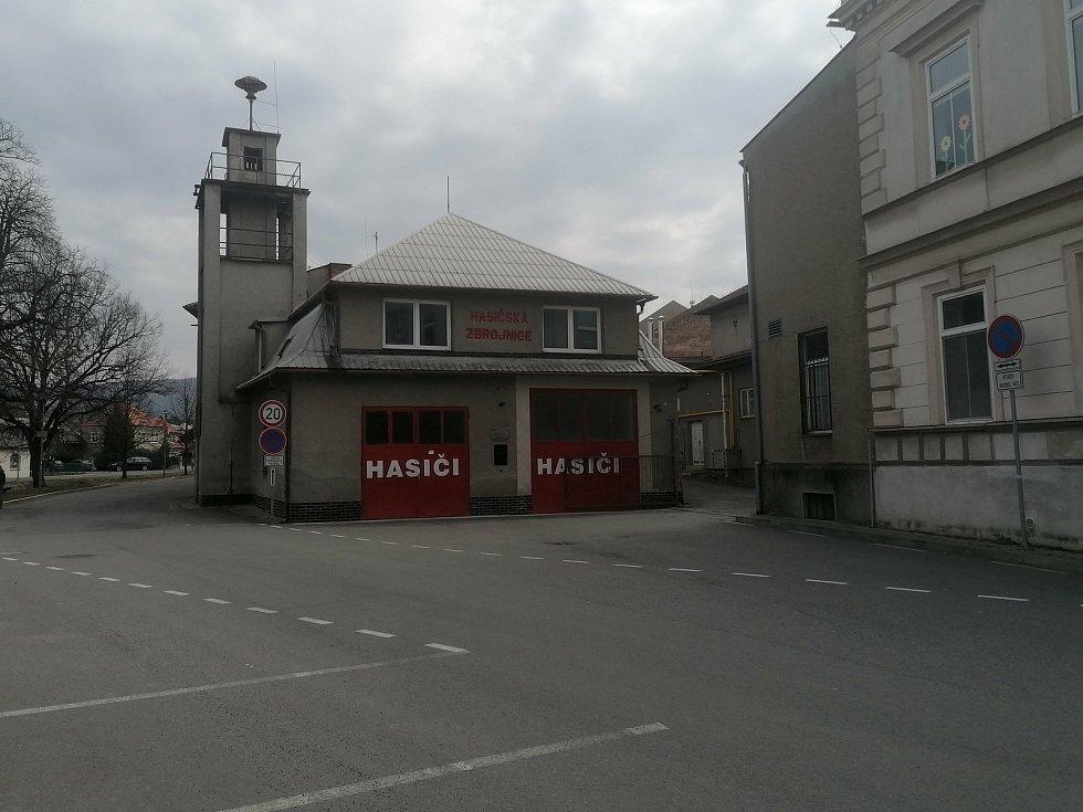 Současná hasičská stanice v Bystřici pod Hostýnem