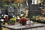 Kroměřížský hřbitov, 2. listopadu 2020.