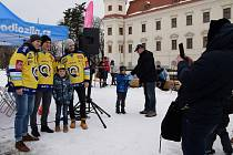 Show s hokejisty Zlína v Holešově. Ilustrační foto.