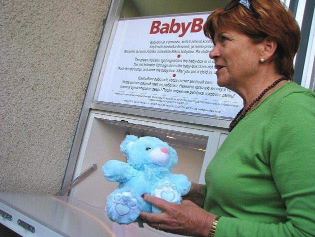 Babybox v kroměřížské nemocnici. Ilustrační foto