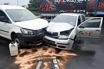 Dopravní nehoda v Chropyni.