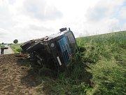 Nehoda kamionu v Lutopecnách.
