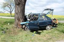 Čelní náraz do vzrostlého stromu padesátiletý řidič auta Škoda Felicia nepřežil. K nehodě došlo 9. dubna krátce po půl jedné odpoledne.