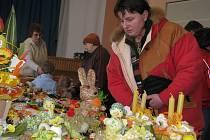 Výstava s názvem Jarní inspirace v kulturním domě ve Vítonicích