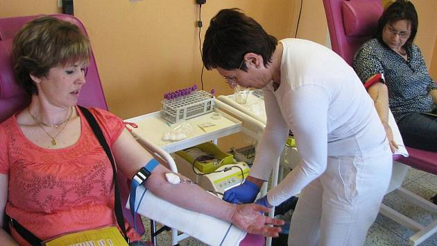 Transfúzní oddělení  kroměřížské nemocnici. Ilustrační foto