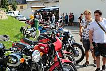 Výstava motocyklů - veteránů v Rymicích na Kroměřížsku; neděle 22. srpna 2021