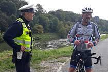 Kroměřížští policisté se v dopravně bezpečnostní akci zaměřili na cyklisty a chodce.