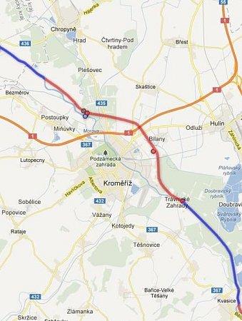 Kolem Kroměříže je případný vodní koridor Dunaj-Odra-Labe projektován takzvaným vodním obchvatem. Lodě by tak vbudoucnu Kroměříž obepluly.