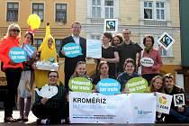 Město Kroměříž získalo na Den Země titul Fair trade.