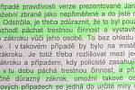 Výňatek z usnesení krajského státního zástupce z června roku 2019, kterým byla zamítnuta stížnost Jaroslava Odstržila.