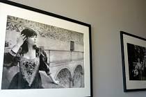 Vernisáž výstavy Komtesa fotografa Roberta Rohála a ručně vyráběných šperků výtvarnice Hany Palečkové přilákala do holešovské kavárny Cinema café desítky návštěvníků