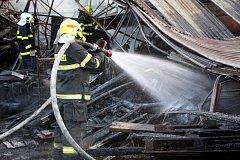 Požár stodoly v Němčicích na Kroměřížsku