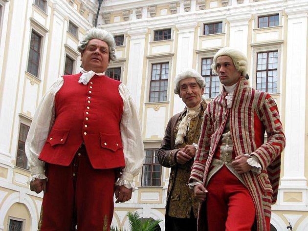 V Arcibiskupském zámku Kroměříž natáčí italská televize mezinárodní film Kapitánská dcerka.