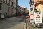 Opravy v kroměřížské Vodní ulici pokračují.