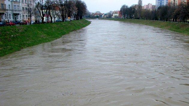 Řeka Morava v Kroměříži. Ilustrační foto