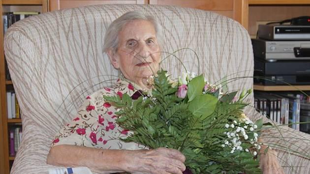 Nejstarší obyvatelka Kroměříže paní Magdaléna Kytnerová