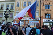 Demonstrace za nezávislou justici a proti vládě Andreje Babiše v Kroměříži, 11. června 2019.