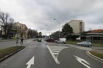 Ani policisté v Kroměříži neměli klidný Štědrý den. Vyjížděli k nehodě na křižovatce Spáčilova a Tovačovského.