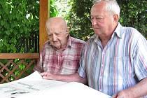 Ladislav Fryšták z Těšánek u Zdounek oslavil v neděli 26. července 2011 102. narozeniny. V pondělí 27. června mu přijel popřát i starosta Zdounek Martin Drkula.