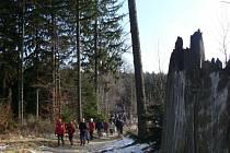 Tradiční předsilvestrovský výšlap na Brdo. Ilustrační foto