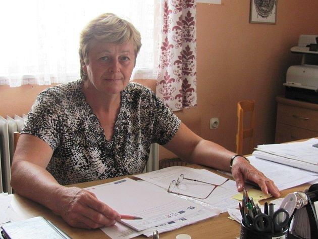 Na snímku současná starostka Cetechovic Eva Váňová.