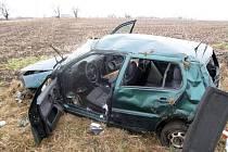 Dopravní nehoda v Ludslavicích.