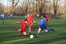 Petr Večerka (v modrém) jednou překonal gólmana Kvasic B.