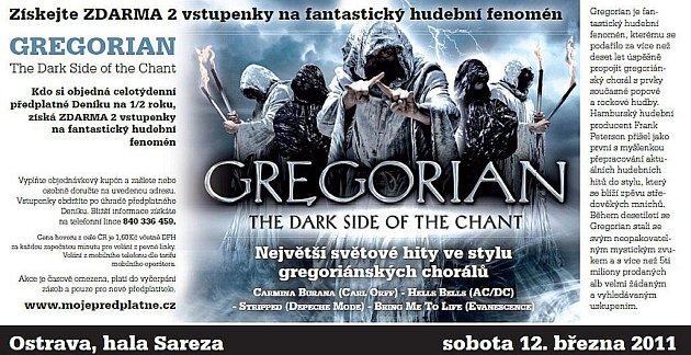 Předplatné Novojičínského deníku - kupón Gregorian.