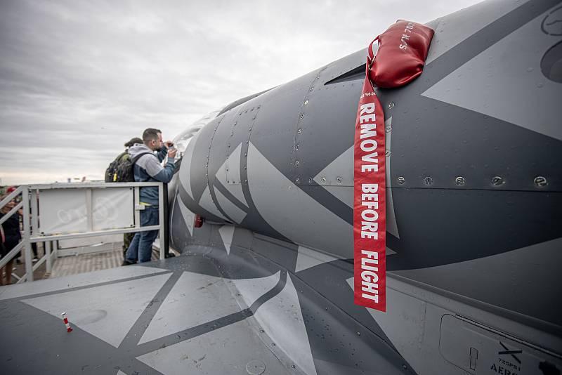Na letišti v Mošnově na Novojičínsku začaly 18. září 2021 dvoudenní Dny NATO a Dny Vzdušných sil Armády ČR, které jsou největší bezpečnostní přehlídkou v Evropě. Aero L-39NG.