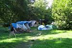 Areál letního tábora Moravská Šipka, srpen 2020. Tábor funguje od roku 2007.