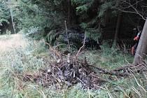 Pohřešovaného muže našli po třech týdnech mrtvého. S vozem skončil nedaleko Pusteven v hluboké strži.