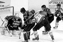 HOKEJISTÉ B týmu Nového Jičína porazili Horní Benešov na jejich ledě 5:3, a oplatili mu tak porážku ze svého ledu 1:5 (na snímku).