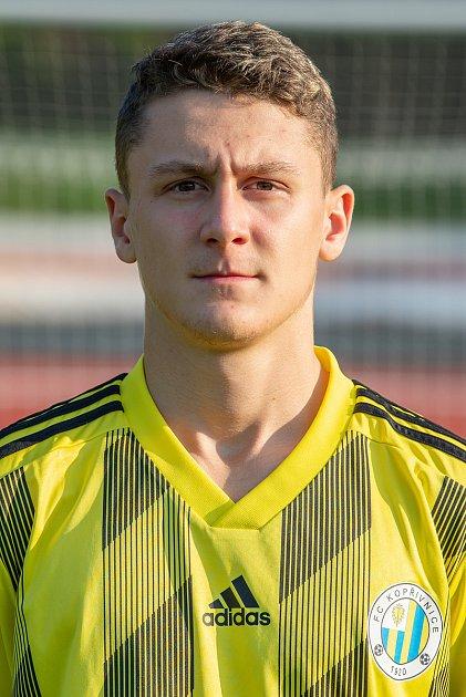 Fotbalový klub FC Kopřivnice, 24.září 2020.Adam Kelnar - útočník