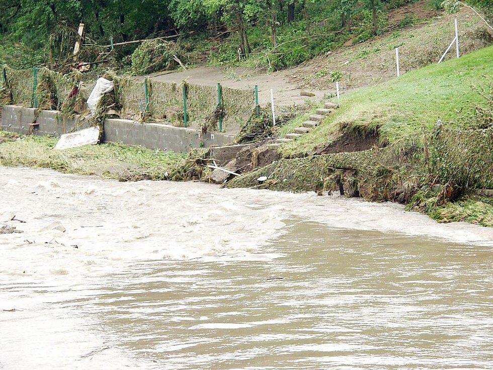 Nový Jičín den po povodních.