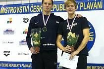 David Kunčar (vpravo) si na nedávném ME v dánském Herningu užil premiéru na vrcholné akci. Na snímku ještě na předcházejícím mistrovství ČR
