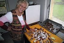 Už několik měsíců před Vánocemi má napilno perníkářka Zdeňka Hanzelková z Libhoště.