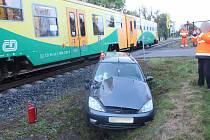 Nehoda na přejezdu ve Studénce, 9. října 2020.