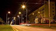 LED svítidla v ulicích města - Ilustrační foto.