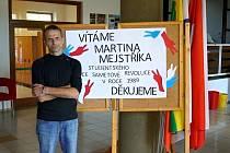 Martin Mejstřík besedoval se studenty pedagogického lycea  v Odrách.
