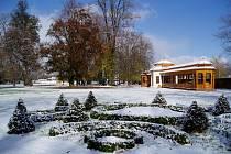 Zámecký park v Kuníně v zimě. Ilustrační foto.