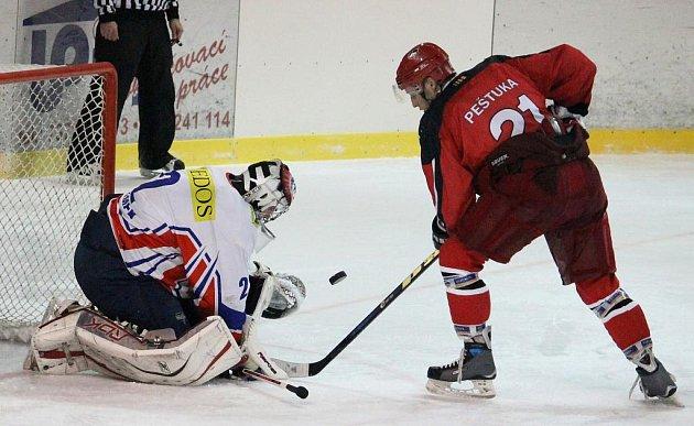 Hokejisté Nového Jičína na domácím ledě podlehli Prostějovu.
