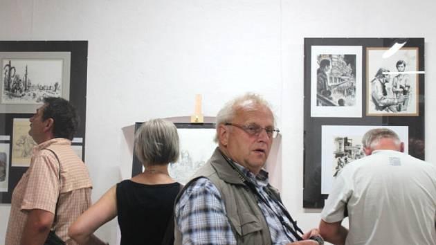 V Městské galerii ve Štramberku se v sobotu uskutečnila vernisáž výstavy k 90. výročí narození malíře a ilustrátora Gustava Kruma. Výstava tam potrvá do 7. září.