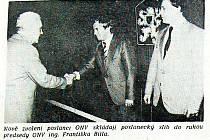 Složení slibu nových poslanců ONV ještě před volbou nového předsednictva ONV.