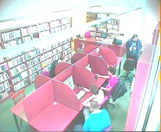 Vareálu knihovny vNovém Jičíně byl vlednu 2014bezpečnostními kamerami zachycen muž.