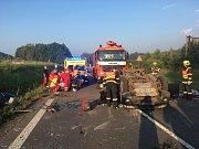 Hasiči zasahovali u dopravní nehody nedaleko Petřvaldu.