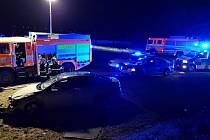 Zásah na místě dopravní nehody u Příbora.