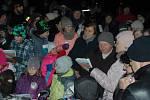 Akce Deníku Česko zpívá koledy v centru obce Hodslavice na Novojičínsku, středa 12. prosince 2018